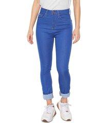 calã§a jeans calvin klein jeans jegging high azul - azul - feminino - algodã£o - dafiti