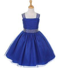 royal blue tulle flower girl dresses bridesmaid pageant party wedding birthday
