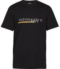 elmo print 3376 t-shirts short-sleeved svart nn07