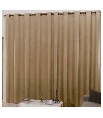cortina 3m x 2,50m cetim amassadinho - avelá