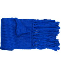 charles jeffrey loverboy long chunky-knit scarf - blue