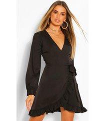 geweven jurk met franjes