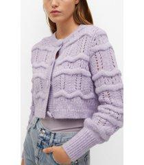 mango women's chunky knit cardigan
