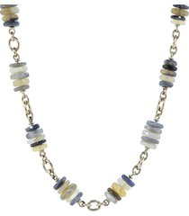 faceted opal wheel bead necklace