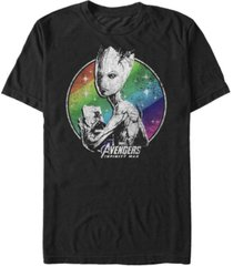 marvel men's avengers infinity war rainbow stars groot short sleeve t-shirt
