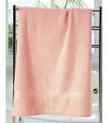 toalha de banho dohler felpudo prisma, salmão
