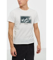 jack & jones jorpanax tee ss crew neck slim fit t-shirts & linnen vit
