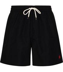 polo ralph lauren traveler swim shorts - black