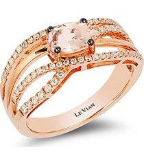 strawberry gold® & peach morganite™ multi-band ring