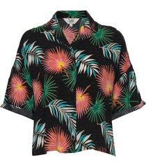 floral resort shirt kortärmad skjorta multi/mönstrad lee jeans