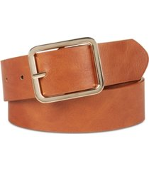 i.n.c. casual solid plus-size belt, created for macy's