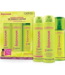 cadiveu kit bossa nova shampoo 250ml + condicionador 250ml + maxi ondas 215ml