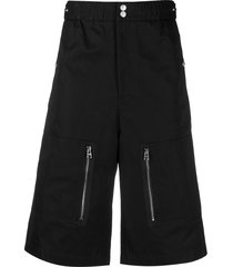 alexander mcqueen multi-pocket bermuda shorts - black