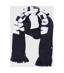 cachecol tricot new era logo azul-marinho