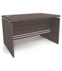 mesa secretária 1,20mt carvalho frances de madeira kappesberg cinza