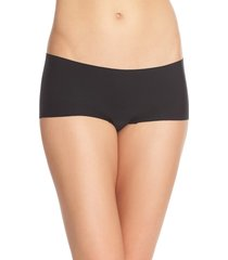 women's commando butter seamless hipster panties, size small - black