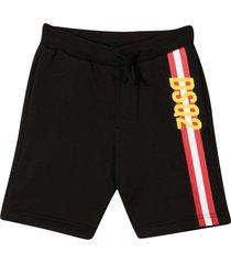 black striped shorts