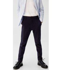 straight-fit broek met stiksel