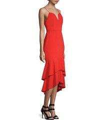 amina tiered ruffled sheath dress