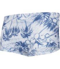 sunga oxer garden - adulto - branco/azul esc