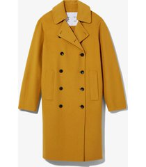 proenza schouler white label double face double breasted coat /yellow l
