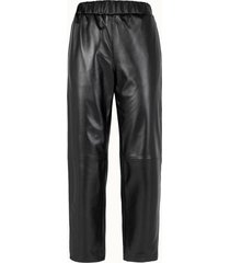 calvin klein pantalone jogger in pelle nera