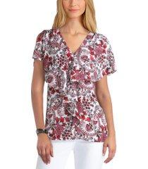 gigi parker women's flutter sleeve blouse