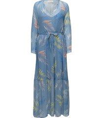 palin maxi dress galajurk blauw custommade