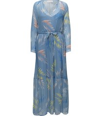 palin maxi dress galajurk blauw custommade