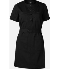 a.p.c. women's seraphie dress - dark navy - fr 40/uk 12