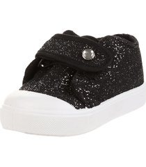 zapatilla negra john stone glitter