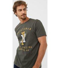 camiseta yachtsman lettering verde - verde - masculino - algodã£o - dafiti