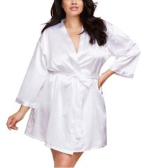 dreamgirl plus size satin charmeuse bride wedding day robe