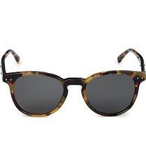 bottega veneta women's 49mm round sunglasses - black