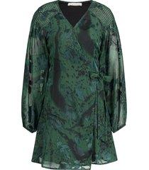 overslagjurk met print odiela  groen