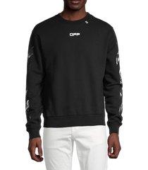 off-white men's caravaggio square sweatshirt - black - size xs