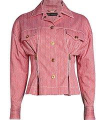 houndstooth peplum jacket