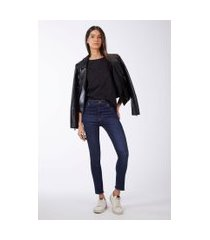 calça basic midi skinny jeans escuro - 44