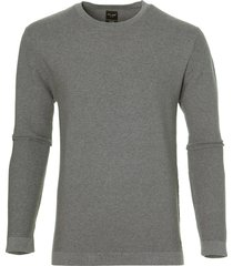 city line by nils pullover - slim fit - grijs
