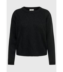 sweater jacqueline de yong negro - calce holgado