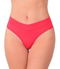 calcinha vip lingerie poliamida cós e fio duplo vermelho