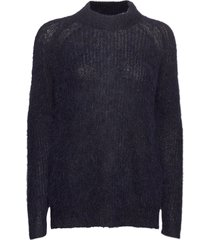 siri alpaca blend sweater gebreide trui blauw lexington clothing