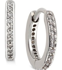 "eliot danori gold-tone crystal pave 1/2"" huggie hoop earrings, created for macy's"