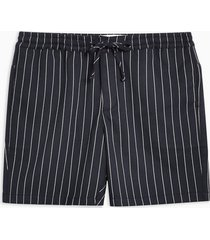 mens navy pinstripe pull on shorts