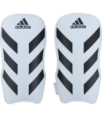 caneleira de futebol adidas everlite - adulto - branco/preto