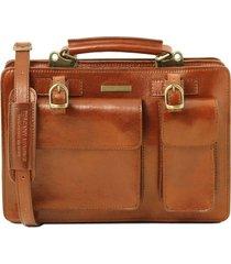 tuscany leather tl141269 tania - borsa a mano in pelle da donna - misura grande miele