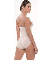 body estraple con resorte siliconado estilo panty beige