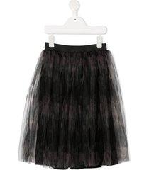 andorine printed tutu skirt - grey