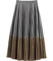 falda plisada metalizada gris nicopoly