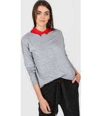 sweater gris ted bodin raya lurex